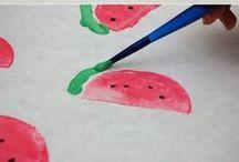 DIY- KIDS - peinture / des activités DIY pour les enfants, décorer des blocs de bois, peindre etc...