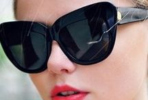 SUNGLASSES ☀ / ❝ Sunglasses, like red lipstick, change everything ❞ - Unknown & ❝ Big sunglasses hide all sins ❞ - Ruelala