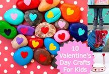 Valentine's Day Party Crafts / Non-food kids' crafts for Valentine's Day and school parties.