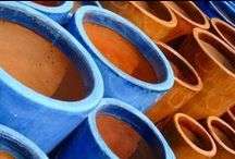 BLUE AND TERRACOTTA
