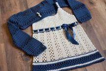 Baby Dress Patterns / Wzory sukienek niemowlęcych na druty i szydełko.