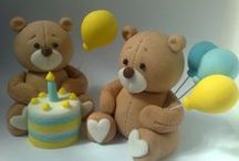 Fondant figurines for cakes