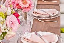 Table setting and decor / for wedding rustic, country style
