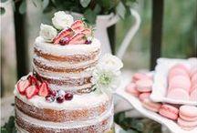 Wedding candy bar, cake, drinks