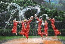 Festivités dans le sud est asiatique / Song Kran en Thailande, Thingyan en Birmanie, Pii mai au Laos ou encore  Chaul Chhnam. Découvrez ces pays en liesse : http://www.voyage-vietnam-tangka.com/