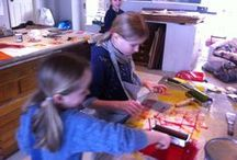 Children's workshops / Artist's inspirations, children's workshops and finished pieces