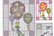 Cross stitch stitch card