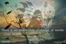 """WILKI I INDIANIE / """"Wilki łączą sie w pary na całe życie nieraz mam wrażenie że zwierzęta mają więcej uczuć i są bardziej lojalne wobec siebie niż ludzie.""""  """"Samotny wilk nigdy nie powinien bratać się z watahą."""""""