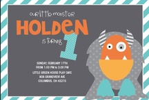 Holden's First Birthday - Monsters! / by Jessica Fitzwater