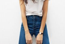 d e n i m / Love all things denim especially high waisted mom jeans