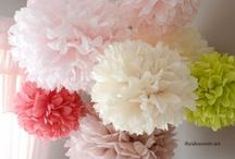 PomPoms / Deko mit wunderschönen PomPoms (Pompons) aus Seidenpapier - lasst Euch inspirieren!