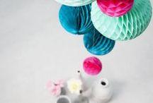 Wabenbälle / Handgemachte Wabenbälle aus Seidenpapier sind einfach toll - hier gibt es viele Ideen zum Dekorieren
