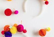 DIY Ideen / DIY Ideen mit PomPoms und Wabenbällen