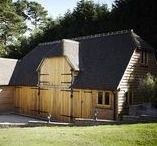 Oak Framed Buildings / The oak framed buildings we supply are all built using traditional woodworking techniques. Houses, garages, garden offices, conservatories, pergolas, annexes and extensions are typical developments, but any requirement can be catered for.