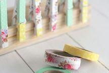Washi / mit Washitape verschönern. Unzählige Möglichkeiten des Dekorierens,Verpackens und Markieren...