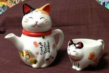 Cat Mugs & Bowls / Mugs, cups, bowls, plates and other cat related crockery... / by Lucia Gill