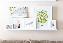♥  Photo Ideas | Frames on Wall / Idee per appendere foto in studio