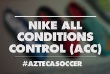 Nike All Conditions Control (ACC) / Nike All Conditions Control (ACC) technology allows the boot's surface to maintain the same level of friction, touch and control on the ball in wet and dry conditions. Shop for the latest nike acc soccer shoes including, Nike Mercurial Vapor VIII, Nike CTR360 Maestri III, Nike Total90 Laser IV, and Nike Tiempo Legend IV.