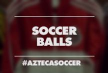 Soccer Balls / A board with a wide variety of soccer balls including official match soccer balls, and training soccer balls. Visit us online at www.aztecasoccer.com to view more soccer balls.