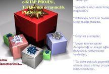 e-KİTAP Cihazlarımız & DİĞER Hizmetlerimiz / *CANLI KİTAP Uygulaması, *TABLET PC Uygulamalarımız, *3D Kitap Uygulaması, *3- TUAL BASKI EKSTRA PAKETİ *YAYINEVLERİ İÇİN ÇÖZÜMLER: *QR-KOD UYGULAMASI (YENİ) e-Kitap Projesinden yeni bir uygulama daha: Kullanıcılarınızın kitap sitenize yönlendirebileceğiniz veya sosyal paylaşım ağlarında sizi ve kitabınıza özgü tanımlayacak olan QR uygulamamız ARTIK E-KİTAP PROJESİ ile hizmette olacaktır.. Üstelik QR-KOD uygulamamız tüm yazarlarımız için ücretsiz olarak kitaplarına eklenecetir..