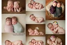 newborn baby posing and props