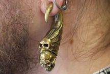 Poids en bronze / Poids en bronze pour les oreilles stretchés