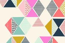 Pattern inspiration / Seamless patterns, surface pattern design, prints, cute illustrations