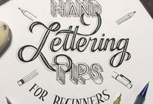 Calligraphy tutorials / Calligraphy and brush lettering tutorials