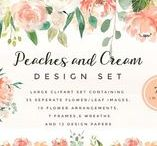 Watercolor / Watercolor design sets, illustrations, backgrounds, animals, flowers, wedding themes and abstracts
