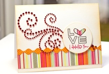 Cards / Cards created with Zva Creative's pearls, blings and/or flowers.