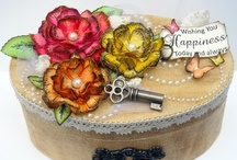 3-D Projects / 3 dimensional projects created with Zva Creative's pearls, blings and/or flowers.