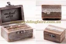 Ring Boxes / http://www.weddingfaire.com.au/ring-bearer-boxes/