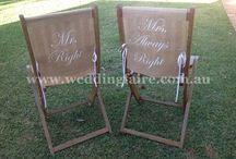 Chair Covers, Signs & Sashes / http://www.weddingfaire.com.au/chair-sashes-and-covers/