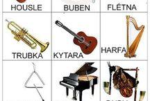 Obrázky - hudební nástroje
