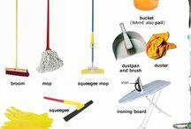 Obrázky - úklid a domácí práce