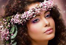 Couronne de fleurs cheveux