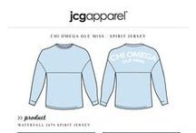 Spirit Jerseys / Greek sorority and fraternity custom shirt designs featuring spirit jerseys. For more information on screen printing or to get a proof for your next shirt order, visit www.jcgapparel.com