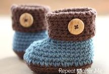 Crochet socks, boots