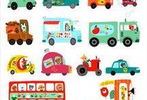 Besip, auta... / náměty do výtvarných soutěží - bezpečnost silničního provozu, rally....
