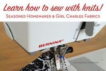 Sewing with Knits: Tutorials / How to get the best from our beautiful knit fabrics