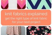 Guides to Knit Fabrics / Helpful information to help you choose the right fabric from our fantastic selection of knits