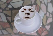 Cafès amb l' estèncil