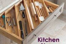 Kitchen Storage / Find ways to life-hack your kitchen to optimize space, stay organized, save time and transform your everyday cooking experience.