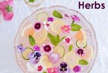 Flowers & Herbs / Find out how to utilize edible flowers and garden-fresh herbs in imaginative ways on this board.