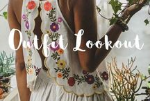 Outfit Lookout / Lookbook featuring the latest embroidery trend in fashion. Check out our store  Pasaboho.com