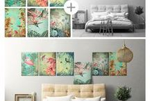 Interior Metamorphosis / Change your interior in just a few seconds with magnet mounted metal posters. You can freely rearrange the posters depending on your mood, year season or current interests!