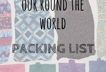 Our Round the World Packing List / Here's what we pack for round the world travel, we've also thrown in a few ideas from others too :-) Travel packing list | RTW packing list | Travel packing | Packing list