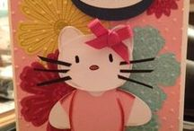 Punch Art / Get out your punches & dies!  Learn about paper piecing punched and die cut pieces to create fun characters and pieces for use on cards and scrapbooking