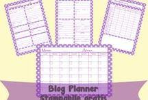 [Blog planner] free printable / Free printable blog planner.