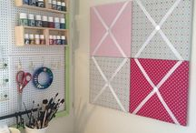 Konemors hobbyrom / Hobbyrommet mitt og ting som blir laget her! Følg meg gjerne :) My crafting room and my DIY project.